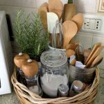Rattan Basket To Store Kitchen Tools