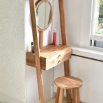 Wooden Rack With Cabinet For Table, Mirror, Wooden Stools