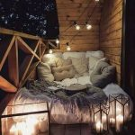Veranda, Wooden Floor, Wooden Wall, White Bed, Pillows, Lamps