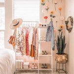 White Rack Shelves, White Rug, White Bed, White Wall, Flower Accessories, Rattan Plant Pot