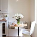 Nook, Light Wooden Floor, White Wall, White Bench, White Chair, Glass Pendant