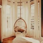 Window Bay, Large Glass Window, Wooden Floor, Rattan Swing