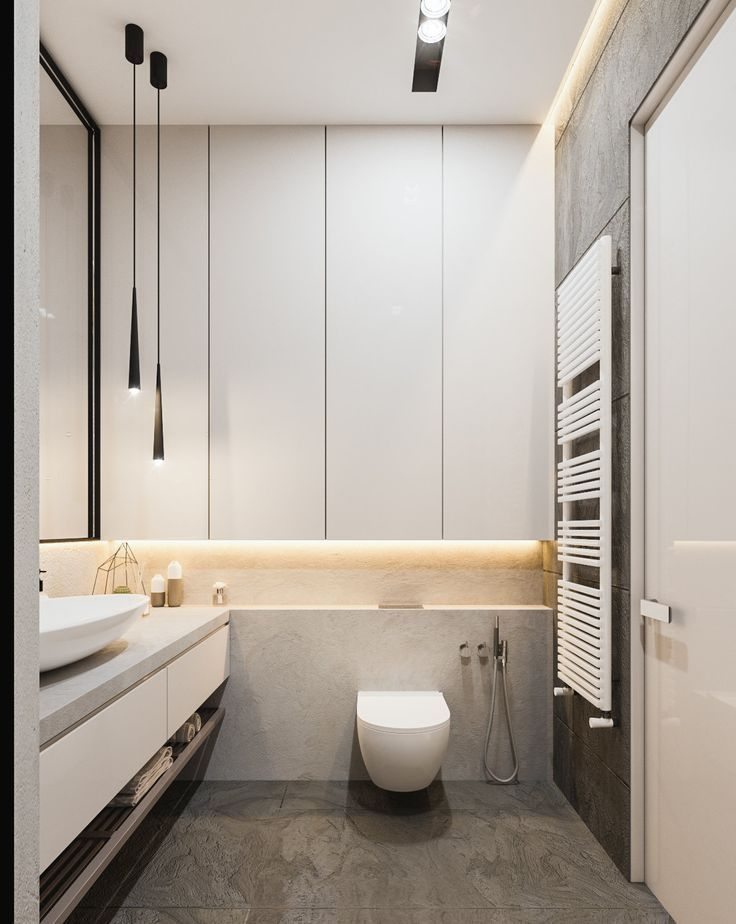 bathroom, grey floor, white cabinet, white vanity cabinet, grey counter top, white sink, toilet