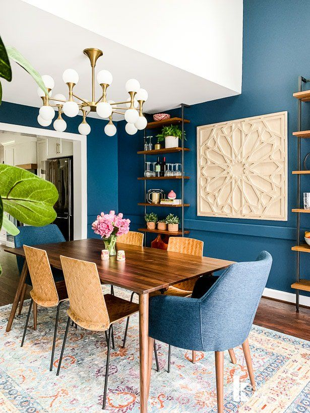Stunningly Beautiful Elegant Colored Dining Rooms | Decohoms