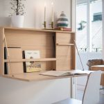 Floating Study Table, White Wall, Wooden Chair