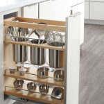 White Cabinet, Vertical Storage, Shelves