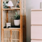 Rattan Shelves And Cabinet, White Wall