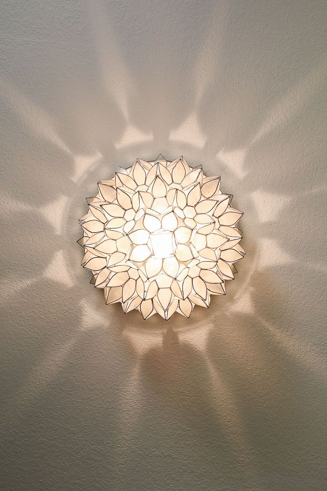 white flower sconce