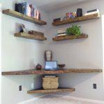 Floating Shelves, White Wall, Floating Corner Table, Floating Corner Shelves