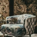 Living Room Chair, Patterned Cushion