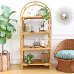 Rattan Shelves With Curve On Top, Rattan Chair, Rattan Pot