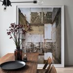 Dining Room, Wooden Floor, Wooden Dining Set, White Table, Modern Pendant