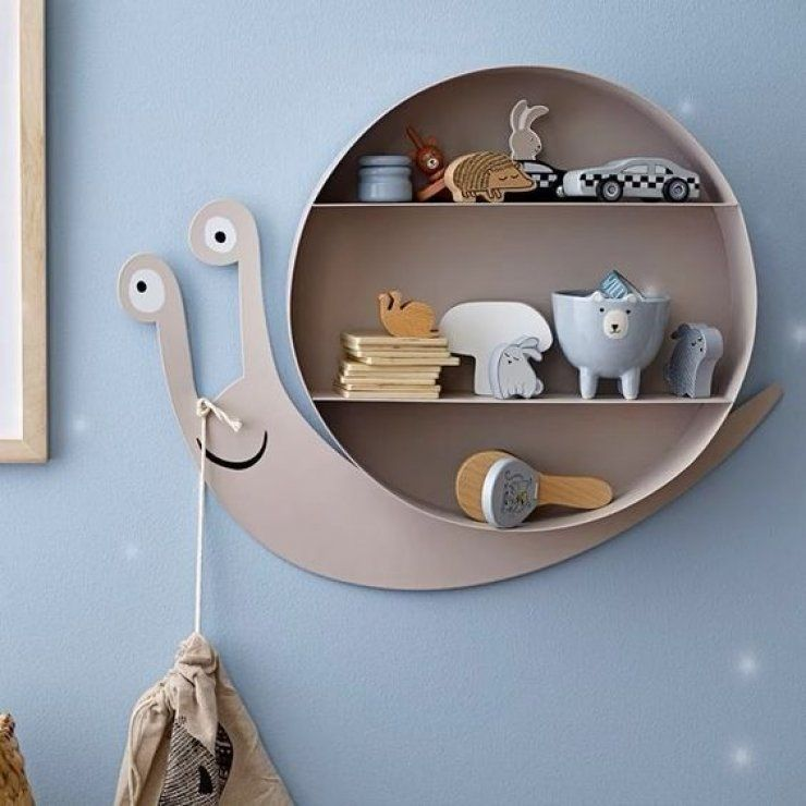 floating snail bookshelves