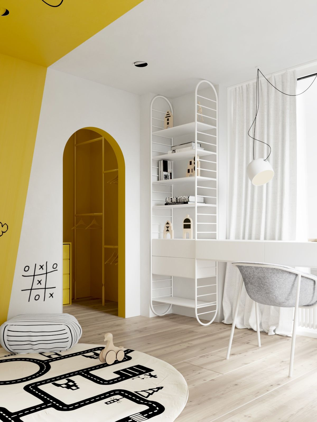Colorful and Playful Shelves for Children