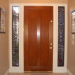 Amazing Classic Nice Sidelight Window Idea With Wooden Door Conceot With Transparent Glass Sidelight Window And Has Black Decorated Border