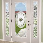 Amazing Natural Cool Nice Eden Accents Entry Sidelights Window With Modern White Frame With Decoration And Has Transpatent Glass Design