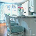 Beautiful Cool Nice Adorable Turquoise Bar Stool With Soft Surface Concept And Has Soft Back Design For Modern Home Bar