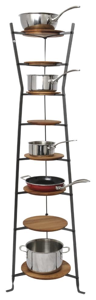 8 tier hourglass pot racks