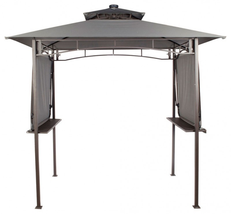 Aluminium and steel frame with powder coated finish UV resistant roof panels LED solar lights Foldable awnings for extra shelter