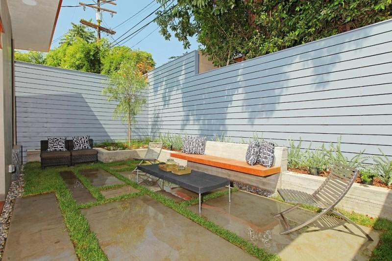 Cream White Concrete Planter Box