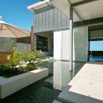 Floating White Marble Concrete Planter Box