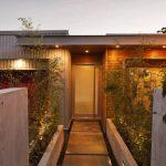 Long Thin Concrete PLanter Box On The Lane