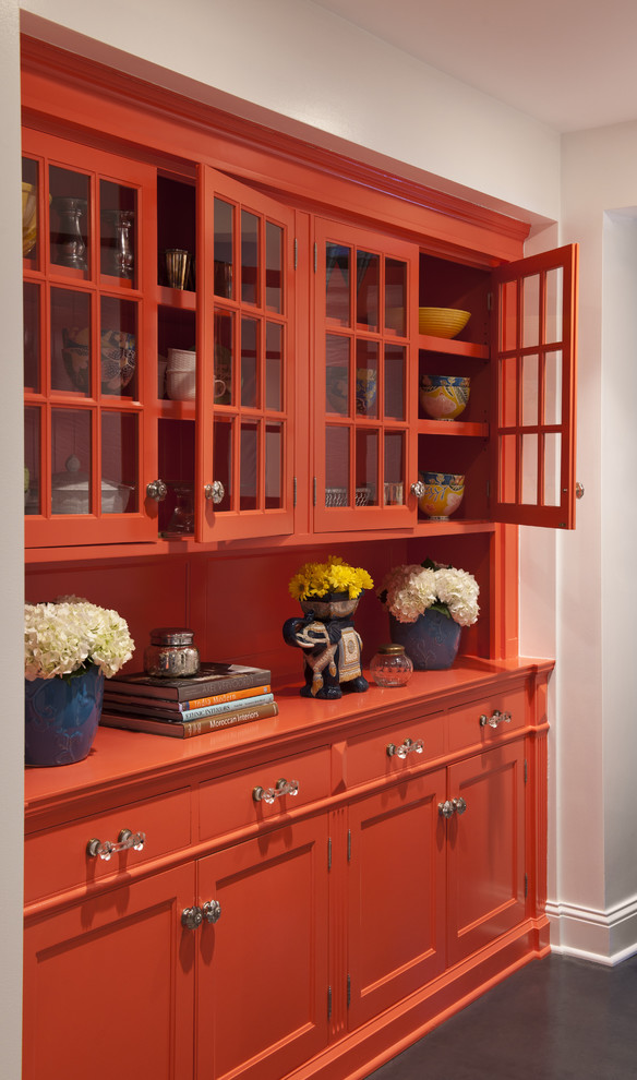 Moroccan Red China Cabinet