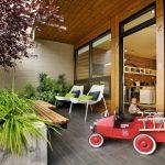 Small High Simple Concrete Planter Box