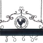 Antiques Rooster Black Iron Pot Racks