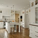 Big White Kitchen Cabinets Drawers Dining Chairs Chandelier Wall Cabinets Modern Stove Knife Faucets Ceiling Lamps