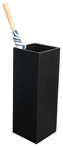 black leather simple square umbrella stand