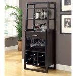 Black Locked Liquor Cabinet IKEA