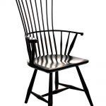 Black Painted Vintage Modern Windsor Chair