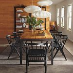 Black Steel Parsons Table With Wooden Top