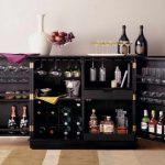 Black Wooden Liquor Bar And Cabinet IKEA