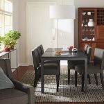 Black Wooden Parson Table With Black Marble Top