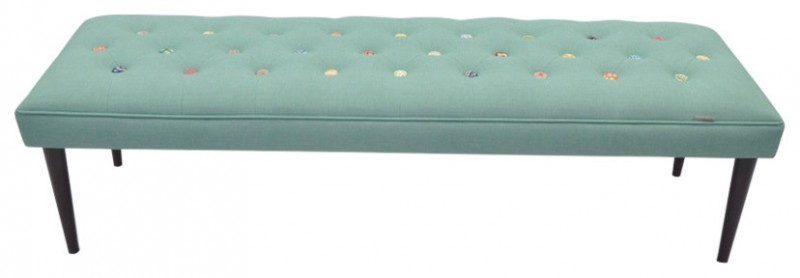 blue turqoise with colorful tufted buttons
