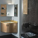 Brown China Small Corner Cabinet For Bathroom