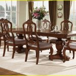 brown dining room extending table plans