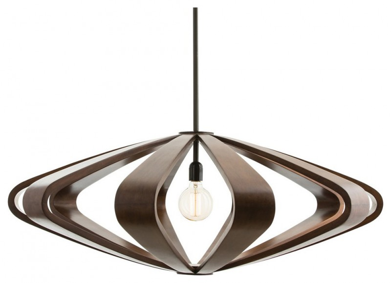 brown silhoutte effect pendant lamp
