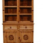 Brown Wooden China Cabinet With 9 Shelves And Drawers