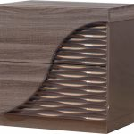Brown Zebra Wood Nightstand