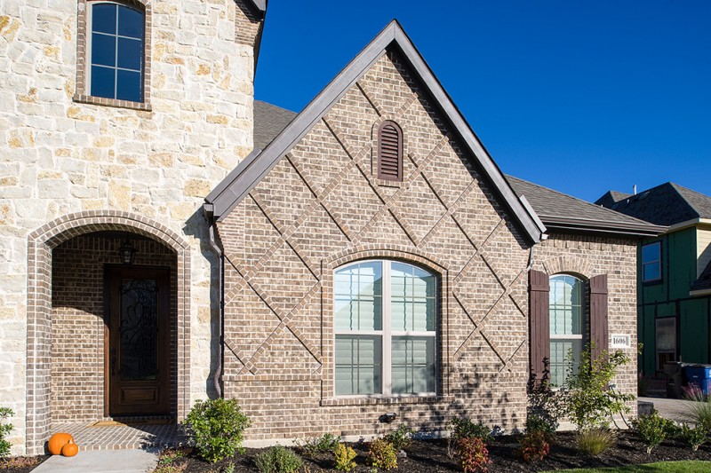 buff brick wall custom wall exterior glass window traditional style