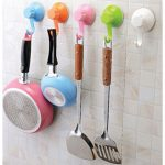 colorful plastic removable suction for kitchen pan