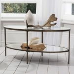 Corner Coffee Table With Glass And Iron Two Level