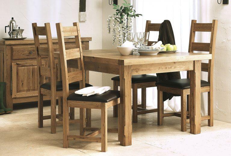Country Oak Leg Double Extending Dining Table Farmhouse Dinner Ideas