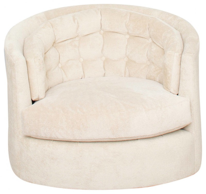 cream chair and a half a one and a half chair gettin and decohoms 13579 | cream round chair and a half with tufted button