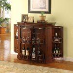 dark brown wooden cabinet
