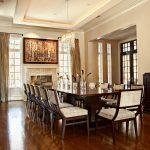 Dark Chesnut Dining Table Set For 14