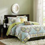 green echo jaipur queen comforter set